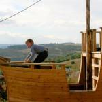 Amennagement extérieur Antoine Aine lozère ossature bois charpente Agencement