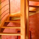 Escalier Antoine Aine lozère ossature bois charpente Agencement