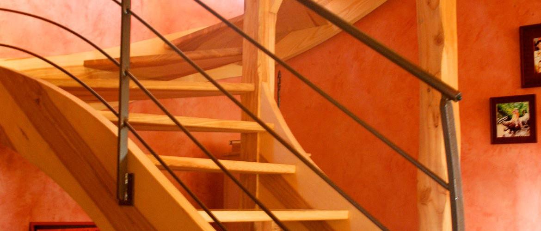Escalier en frêne, Causse Méjean 01
