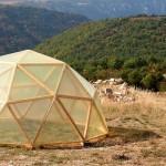 Serre dôme géodésique en douglas, Hyelzas 03