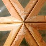 Serre dôme géodésique en douglas, Hyelzas 04